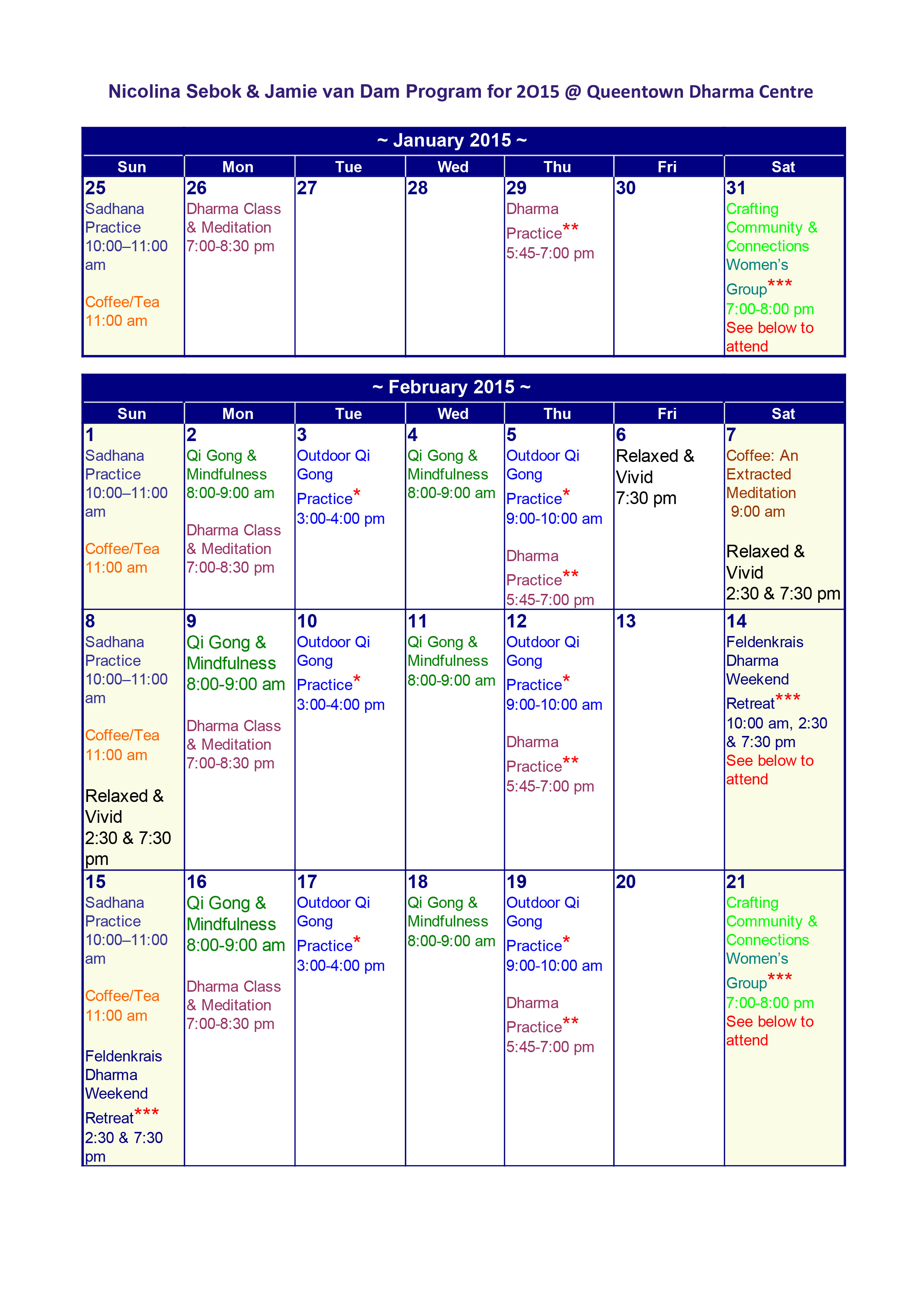 QDC Program Jan - March 2015-1